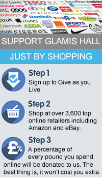 Shop with your favourite stores and a donation will be made to Glamis Hall for All without costing you a penny extra.